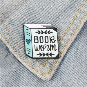 Jewelry - Book Worm Pin for your fav book lover!